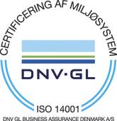 Strandbygaard Trykkeri - Miljøbevidst trykkeri, ISO 14001 certifikat