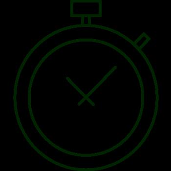 Strandbygaard trykkeri billede af ur viser at der leveres til tiden