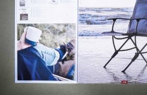 Hos Strandbybaard trykkeri har Isabella Reklamebureau fået trykt et klammehæftet flexbind, her ses en midterside fra tryksagen. Få trykt professionelt og miljøvenligt hos Strandbygaard Trykkeri i Skjern, Vestjylland.