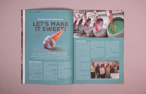 Billedet viser et flexbind der er trykt til GB Grafisk Reklamebureau, efterbehandlet med Soft touch kachering. Få trykt professionelt og miljøvenligt hos Strandbygaard Trykkeri i Skjern, Vestjylland.