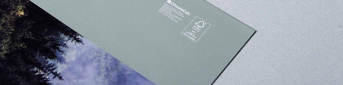 Miljø bevidst trykkeri med FSC mærke. her ses et miljørigtigt hæfte,