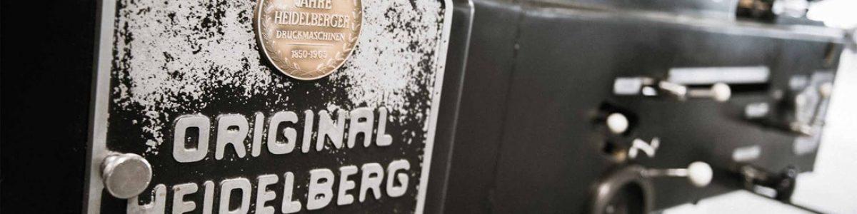 Strandbygaard har en historie der strækker sig helt tilbage til 1898 - her ses en ældre trykkerimaskine af mærket Heidelberg.