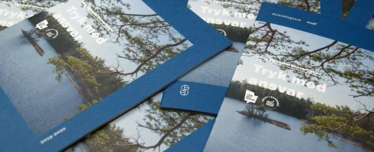 Strandbygaard trykkeri - miljøbevidst trykkeri viser tryk med ansvar katalog